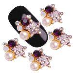 10Pcs 3D Nail Tools 5 Colors Choice Five-pointed Star Alloy Colorful Glitter Rhinestone Pearl Nail Art <b>Decoration</b> Stud <b>jewellery</b>