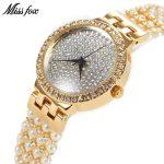 MISSFOX Miss Fox Luxury Women Watches <b>Silver</b> <b>Bracelet</b> Watch Women 2018 Gold Waterproof Wrist Watches For Women Bayan Kol Saati