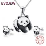 EVOJEW 100% 925 Sterling Silver Animal Collection <b>Jewelry</b> Sets For Women Children Lovely 925 Silver <b>Jewelry</b> Accessories