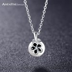 ANFASNI 2017 Spring New 925 Sterling Silver Mystic Floral With Simulated Pearl Pendant Necklace <b>Jewelry</b> <b>Wedding</b> Accessories