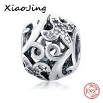 Shapes flowers and hollow bird charm Fit Authentic pandora Bracelets Silver 925 Original Charms <b>Antique</b> Beads <b>jewelry</b> making