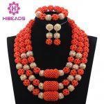 Luxury Fashion Coral Costume <b>Jewelry</b> New <b>Handmade</b> Coral Beads Balls Wedding <b>Jewelry</b> Set Nigerian Brides Free Shipping ABH233