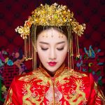 Classcial Chinese Style <b>Wedding</b> Headdress Gold Color Brides Headband Hair Sticks Hair <b>Jewelry</b> Accessories Tassel Phoenix Coronet