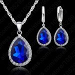 JEXXI 925 Sterling <b>Silver</b> Necklace <b>Jewelry</b> Set High Quality Rhinestone Crystal Necklaces Wedding Necklace Pendants For Women