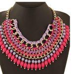 Bohemian <b>jewelry</b> bib layered statement big tassel ladies necklace les nereides women <b>accessories</b>/colar feminino/collier femme