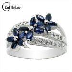 luxurious <b>silver</b> gemstone ring 15 pcs natural sapphire ruby ring solid 925 <b>silver</b> ruby ring sapphire <b>silver</b> <b>jewelry</b> for woman