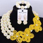 DuDo <b>Jewelry</b> <b>Handmade</b> Flowers & Balls Nigerian Wedding Beads Crystal <b>Jewelry</b> Sets Celebrity Party Bridal Necklace Set 2018