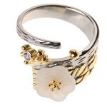 <b>Handmade</b> Ethnic Flower 925 Sterling Silver Ring For Women,Fashion & Elegance Adjustable Silver Ring Fine <b>Jewelry</b> Wholesale