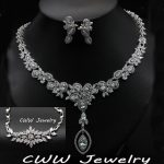 CWWZircons Delicate Crystal Luxury Bridal <b>Necklace</b> Earrings Bracelet 3 pcs Wedding Evening Party <b>Jewelry</b> Sets For Brides T080