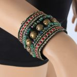 2018 2 Pieces Set Tribal Belly Dance Costume <b>Accessories</b> Bronze Beads Wristband & Armband Adjustable Fit Gypsy <b>Jewelry</b> Bracelets