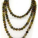 Among the Yellow Veins wholesale <b>jewelry</b> Dragon Onyx 8mm hot Round Beads Necklace DIY Fashion <b>Jewelry</b> <b>Making</b> Design 50inch W0330