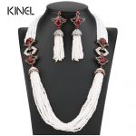 New Arrivals African Beads <b>Jewelry</b> Set 2017 Nigerian Wedding & Engagement Necklace Earring For Women Handmade Indian <b>Jewelry</b>