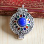 Jimei silver puerile, the <b>supply</b> of S925 Silver Lovers Lapis Pendant <b>Jewelry</b> Silver gawu box bag mail