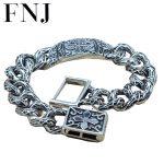 15MM Statement Bracelet 925 <b>Sterling</b> <b>Silver</b> 20.8-21.8cm Big Hand Chain 100% S925 Solid Thai <b>Silver</b> Bracelets for Men <b>Jewelry</b>
