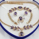 Women's Wedding Noble gem Zircon necklace bracelet ring set silver-<b>jewelry</b> moda real silver-<b>jewelry</b> silver-<b>jewelry</b>