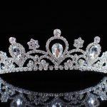 Sparkling Flower Tiara Diadem Clear Austrian Rhinestones Crystal Crown Wedding Brides Headband Hair <b>Jewelry</b> Pageant Prom Party