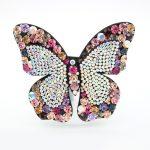 New Alexander Full Rhinestones Butterfly Cellulose Acetate <b>Wedding</b> Hair Accessories Tiara Clip for Women <b>Jewelry</b> Ornament Pins