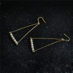 <b>Handmade</b> Pearl Earrings Gold Filled Customize Brinco Vintage Charm Triangle <b>Jewelry</b> Not Fade Party Pendientes Oorbellen Earring