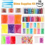 58pcs Dushi Beginners Slime <b>Supplies</b> Kit Confetti Star Heart Sprinkles DIY Slime Decoden Craft <b>Supplies</b> Assorted <b>Jewelry</b> Display