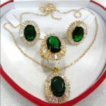 Women's Wedding Charming&Fashion Zircon Earring Pendant Ring <b>Jewelry</b> Set mujer brincos for <b>jewelry</b> silver mujer moda