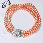 2018 Promotion New Women's Elegant Round Weddings Freshwater Pearl 3 Row <b>Bracelet</b> S925 Sterling Girls Fine Jewelry 6-7mm