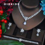 <b>Fashion</b> New Rhodium Color <b>Fashion</b> Top Quality Wedding <b>Jewelry</b> Sets, AAA CZ Flower Bridal Earrings Necklace Sets S069