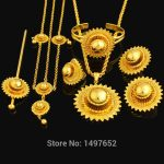 NEW Big size Ethiopian <b>jewelry</b> sets . Gold Color hair <b>jewelry</b> sets African/Ethiopian/Kenya Women Girls Gifts