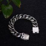 18mm wide Totem Genuine 925 <b>Silver</b> Bracelets Punk Rock Vintage Heavy <b>Sterling</b> <b>Silver</b> Bracelet Men Luxury Male Biker <b>Jewelry</b> 20cm