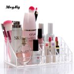 <b>Fashion</b> Acrylic Makeup Organizer For Cosmetics Lipstick Holder Display Storage Box Desktop Stand Clear Hand Lotion Brow Pencil