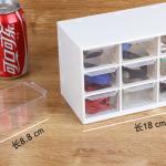 Plastic 9 <b>Jewelry</b> Storage Box Mini Debris Cabinets Lattice Portable Amall Drawer Sorting Grid Desktop Office <b>Supplies</b> CANDYKEE