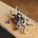 UMGODLY Retro Punk Deep Sea Big Octopus Ear Clip S925 Sterling <b>Silver</b> Hyperbole Earrings Non Perforated Women <b>Jewelry</b>