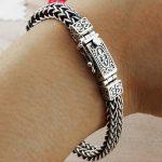 Real 925 Sterling <b>Silver</b> <b>Bracelet</b> For Men Women Width 8mm Vintage Punk Rock Wire-cable Link Chain&<b>Bracelets</b> Thai <b>Silver</b> Jewelry