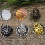 100pcs Cabochon 25mm Round Pad ring blank Cameo Tray,Bronze/Gold/Silver Ring setting,<b>Handmade</b> DIY Zakka <b>jewelry</b> Finding