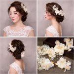 TUANMING Crystal Flower Hair Combs Rhinostone Wedding Hair Barrettes Headdress Elgent Bride Hair Accessories For Women <b>Jewelry</b>