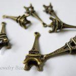 Free Shipping!! 150pcs Eiffel Tower Model pendant charm Zinc-alloy <b>Antique</b> Bronze Colour In Wholesale