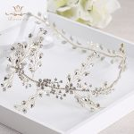 Korean Soft Wedding <b>Handmade</b> Silver Hairbands Brides Rhinestone Tiara Head wear Crystal Hair <b>Jewelry</b> Bridal Hair Accessories