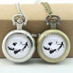 WholesaleTinkerbell Silhouette Pocket Watch Peter Pan <b>Jewelry</b> Glass Locket Necklace <b>Antique</b> Pocket Watch Necklace