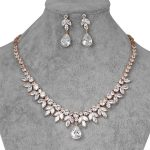 WEIMANJINGDIAN Brand Shining Cubic Zirconia Crystal Water Drop and Marquise CZ Necklace and Earring Bridal <b>Wedding</b> <b>Jewelry</b> Set