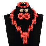 2017 New Trendy Nigerian Wedding Coral Beads <b>Jewelry</b> Set Unique <b>Handmade</b> Coral Women Costume Necklace Set Free Shipping ABH599