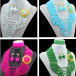 Latest design African Nigerian Indian quality crytal beads Traditional Wedding Party, Bridal <b>Jewelry</b> Set