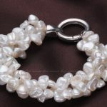 Wedding Woman 9-11mm Natural White Freshwater Pearl Bracelet 3 Rows Baroque Pearl highlight <b>Handmade</b> Woman <b>Jewelry</b>