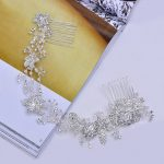 New brand Crystal Crowns bridal tiaras Women <b>fashion</b> hair <b>jewelry</b> Silver headbands Flower hairbands wedding hair accessories