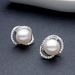 Sinya Natural pearls <b>Earring</b> in 925 Stering <b>silver</b> for women wife mother high luster pearl diameter 10-11mm 2017 new arrival