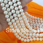 Beautiful diy wholesale 6.5-7mm newly white FW cultured charms pearl diy Necklace <b>making</b> 5pc MY4788