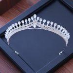 Luxury Cubic Zirconia Sparking Wedding Crown Tiaras Marquise-Cut Zircon CZ Rhinestone Prom Crown Coronet Crystal Hair <b>Jewelry</b>