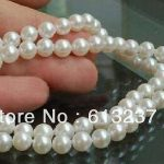 Fashion style 5-6mm white freshwater pearl <b>making</b> charms necklace <b>jewelry</b> 18 inch YE2069