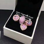 4pcs Rose Gold <b>Jewelry</b> Set Murano Glass Heart Pink CZ Dangle Charms Beads Fit DIY Bracelet Necklaces <b>Jewelry</b> <b>Making</b> Woman Gift