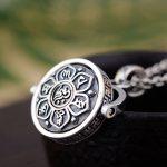 FNJ 925 Silver Buddha Pendant Bring Good Luck Round 100% Pure S925 Original Thai Silver Pendants for Women Men <b>Jewelry</b> <b>Making</b>
