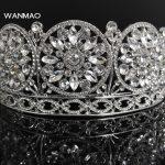 High-end bride alloy rhinestone crown tiara wedding <b>supplies</b> dinner fashion bride crown accessories female <b>jewelry</b> HD327