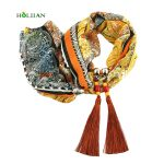 Blue Scarf Style Girl Pendants & Necklaces Scarf Women Alloy Beads <b>Antique</b> Birthday & Valentine's Gifts 160CM Fashion <b>Jewelry</b>